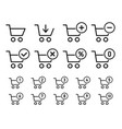 shopping cart sign set for website shopping vector image vector image