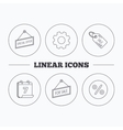 Special offer discounts and sale coupon icons vector image vector image