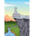 stones on mountain edge vector image vector image