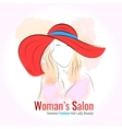 Template for womans salon card vector image
