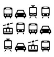 transport travel icon set isolated vector image vector image