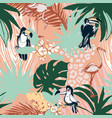 Tropical floral summer seamless color background