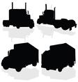 truck black silhouette vector image