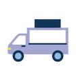 truck vehicle transport food commerce vector image