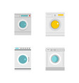 wash machine icon set flat style vector image vector image
