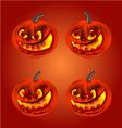 Happy Halloween set merry pumpkin vector image