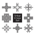 tribal cross set vector image