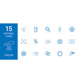 15 focus icons vector image vector image