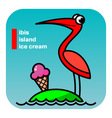 ABC ibis island icecream vector image