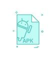 apk file file extension file format icon design vector image