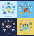 augmented and virtual reality icons set vector image vector image