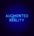augmented reality neon sign vector image vector image