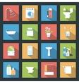Bathroom flat icons set vector image vector image