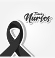 black awareness ribbon for nurses doctor vector image vector image