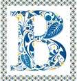 Blue letter B vector image vector image