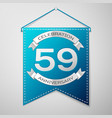 blue pennant with inscription fifty nine years vector image vector image