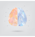 Brain concept creative triangle style v2 vector image vector image