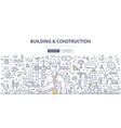 building construction doodle concept vector image