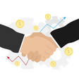 business handshake bargaining business ethics vector image