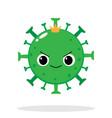cartoon coronavirus emoji with evil smile vector image