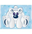 Cartoon polar bear vector image