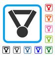 champion award framed icon vector image