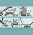 chocolate and caramel factory production process vector image vector image