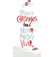 christmas greeting card modern style vector image vector image