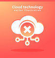 cloud icon for web design vector image vector image