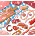 collection meat vector image vector image
