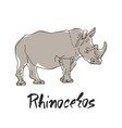 cute rhinoceros cartoon of vector image