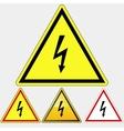 Danger Electrical Hazard sign vector image vector image