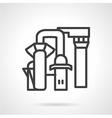 Desalination station line icon vector image vector image
