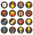 Different flat icons set on circles vector image vector image