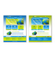 easy customizable blue and green website template vector image