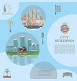 flat city elements template vector image vector image