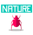 Flat Design Bug - Osmoderma Eremita with Nature vector image vector image