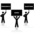 Frequently Asked Questions vector image