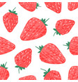 fresh sweet strawberry seamless pattern colorful vector image