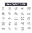 game developer line icons signs set vector image vector image