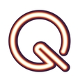 Glowing neon letter Q vector image