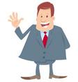 happy boss cartoon character vector image vector image