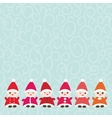 Happy New Year card for your text Funny gnomes in vector image vector image