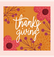 happy thanksgiving day calligraphy hand drawn vector image