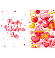 happy valentine day greeting card vector image vector image