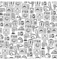 Home electronics sketch seamless pattern vector image vector image