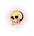 Human skull icon comics style vector image vector image