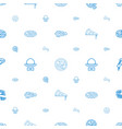 italian icons pattern seamless white background vector image vector image