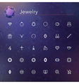 Jewelry Line Icons vector image