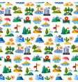 landscapes seamless pattern vector image vector image